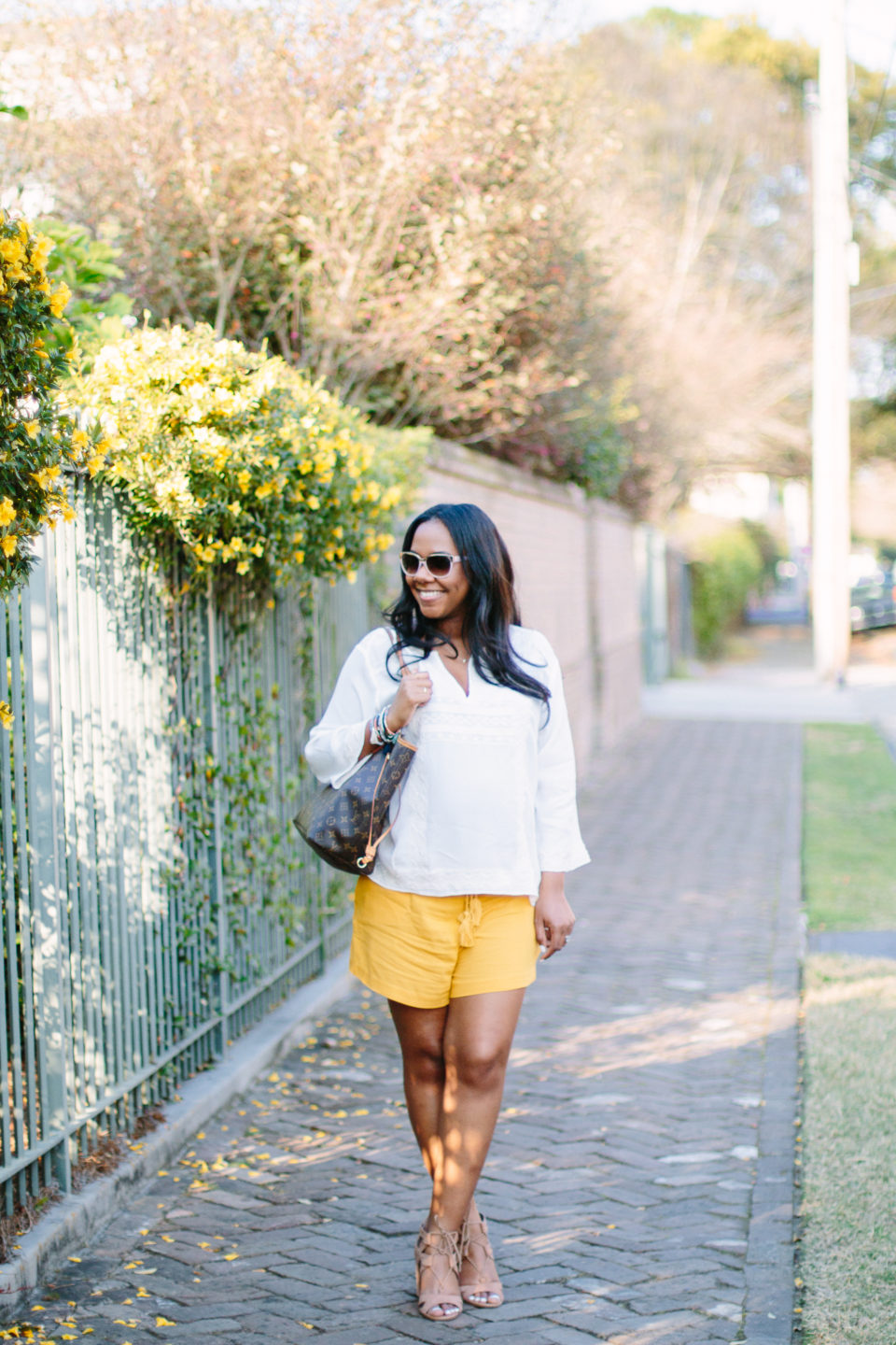 spring yellow shorts-10
